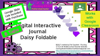 Digital Interactive Notebook Daisy Foldable