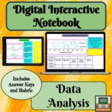 Digital Interactive Notebook Data Analysis Graphs 7th Grade Math