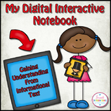 DIGITAL INTERACTIVE NOTEBOOK - Nonfiction Text Features, Editable Powerpoint