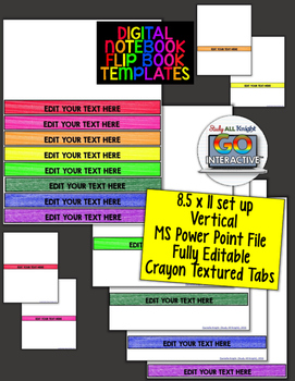 DIGITAL INTERACTIVE NOTEBOOK FLIP BOOK TEMPLATES FOR PERSONAL AND COMMERCIAL USE