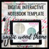 Digital Interactive Notebook Google Slides Template