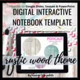 Digital Interactive Notebook Google Slides Template