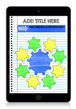 Digital Interactive Notebook & Graphic Organizer Template Packet 1 (GOOGLE)