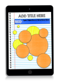 Digital Interactive Notebook & Graphic Organizer Template Packet 2 (GOOGLE)