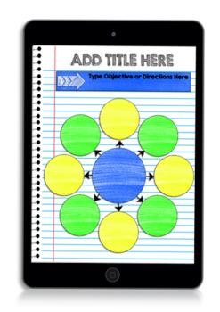 Digital Interactive Notebook & Graphic Organizer Template Packet 2 (GOOGLE)