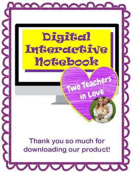 Digital Interactive Notebook Graphic Organizers