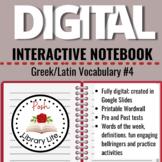 Digital Interactive Notebook Green and Latin Vocabulary #4