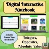 Digital Interactive Notebook - Integers - Distance Learnin