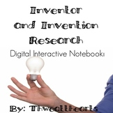 Digital Interactive Notebook Inventor and Inventions Research
