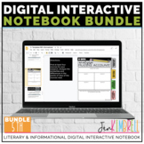 Digital Interactive Notebook Template 5th ELA Distance Learning