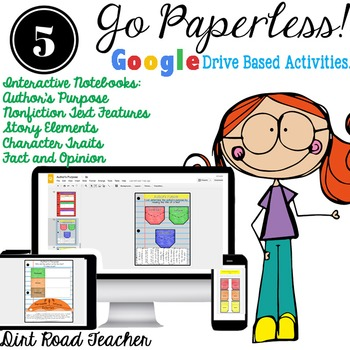 Character Traits, Story Elements, Author's Purpose Digital Interactive Notebook