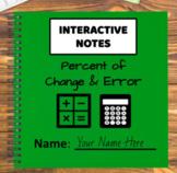 Digital Interactive Notebook - Percent of Change & Error