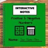 Digital Interactive Notebook - Positive & Negative Numbers