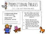 Prepositional Phrases Interactive Notebook (Digital/Google Slides)