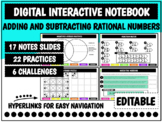 Digital Interactive Notebook: Rational Numbers   Distance