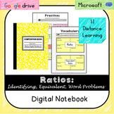 Ratios Digital Notebook-Distance Learning-Videos (VA SOL 6.1)