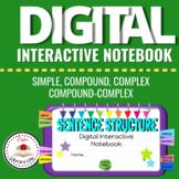 Digital Interactive Notebook Sentence Structures Distance