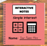 Digital Interactive Notebook - Simple Interest