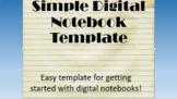 Digital Interactive Notebook Slide Template