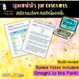 Digital Interactive Notebook: Spanish Pronouns