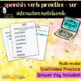 Digital Interactive Notebook: Spanish Verb Practice - SER