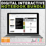 Digital Interactive Notebook Template 1st ELA Distance Learning