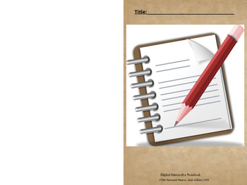 Digital Interactive Notebook Template