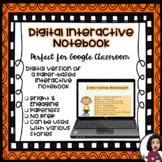 Digital Interactive Notebook Template-Fiction