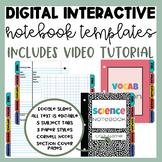 Digital Interactive Notebook Template | Google Slides | 5