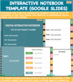 Digital Interactive Notebook Template (Google Slides) | Di