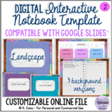Digital Interactive Notebook Template (Landscape)- Compati