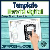 Digital Interactive Notebook Template -Plantilla para libr