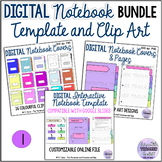 Digital Interactive Notebook Template and Clip Art Bundle 1