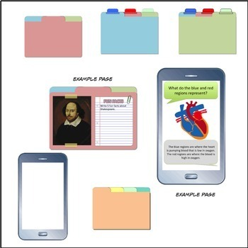 Digital Interactive Notebook Templates Commercial Use