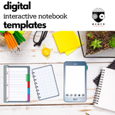 Distance Learning Digital Interactive Notebook Templates Commercial Use