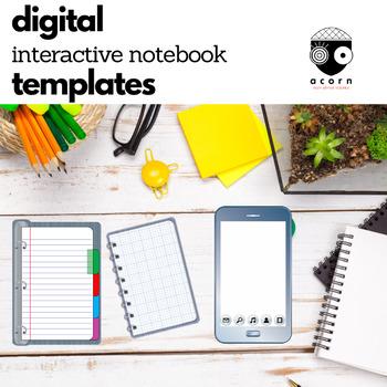 Digital Interactive Notebook Templates