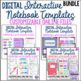 Digital Interactive Notebook Templates Bundle - Compatible