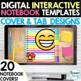 Digital Interactive Notebook Templates Covers   Google Sli