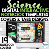 Digital Interactive Notebook Templates Covers SCIENCE    G