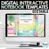 Digital Interactive Notebook Templates EDITABLE | Google Slides™