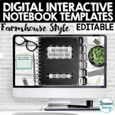 Digital Interactive Notebook Templates EDITABLE   Google S