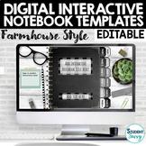 Digital Interactive Notebook Templates EDITABLE | Google S