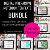 Digital Interactive Notebook Templates | Trendy Bundle | D