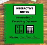 Digital Interactive Notebook - Terminating & Repeating Decimals