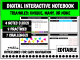 Digital Interactive Notebook: Triangles   Distance Learning