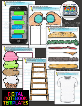 DIGITAL INTERACTIVE NOTEBOOK VISUAL IMAGES TEMPLATES PERSONAL AND COMMERCIAL USE