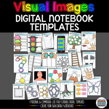 DIGITAL INTERACTIVE NOTEBOOK VISUAL IMAGES TEMPLATES PERSO