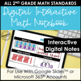 Digital Interactive Notebook for 2nd Grade Math | Entire Y