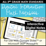 Digital Interactive Notebook for 3rd Grade | Entire Year of Math Lessons!