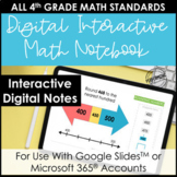 Digital Interactive Notebook for 4th Grade Math | Entire Y